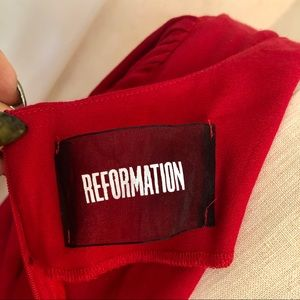 Reformation Dresses - REFORMATION red MINI dress with tag